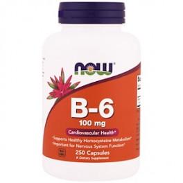 NOW B-6 100 mg 250 капс